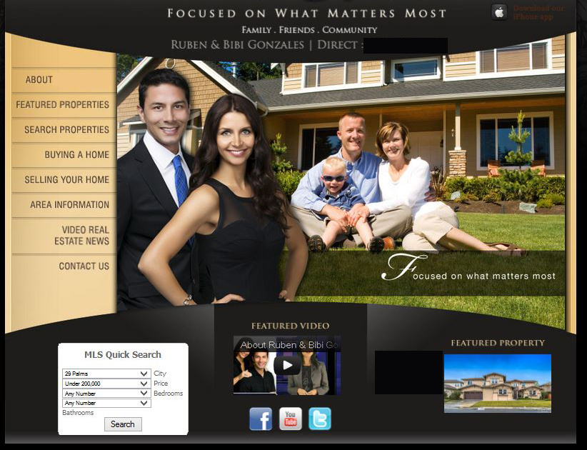 Real Estate Site Example Two