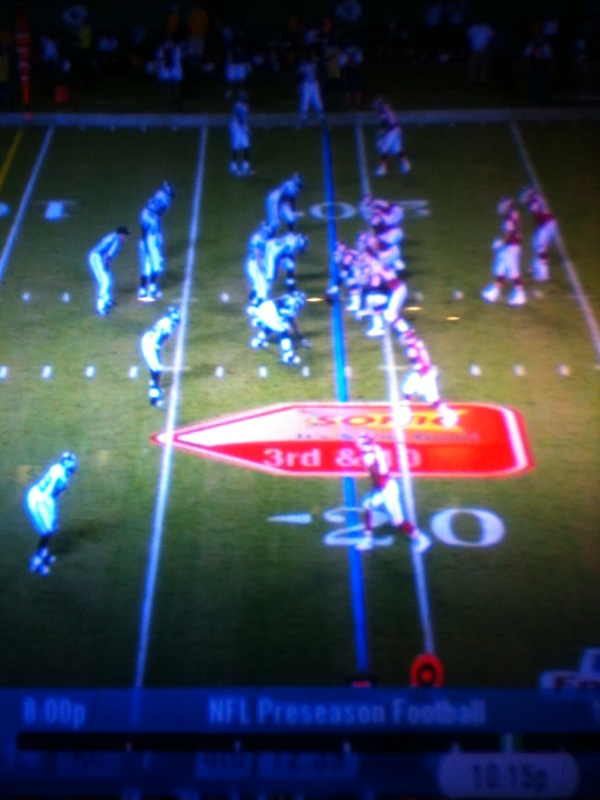 Kansas City Chiefs on the Seattle Seahawks 20 yard line